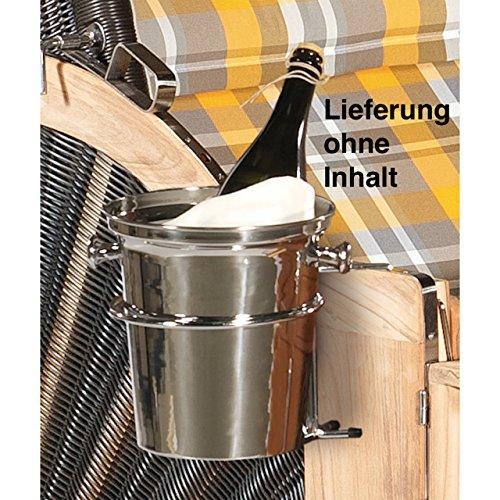 Sonnenpartner Sektkühler 2teiliges Set Eiskühler mit Halterung Flaschenkühler