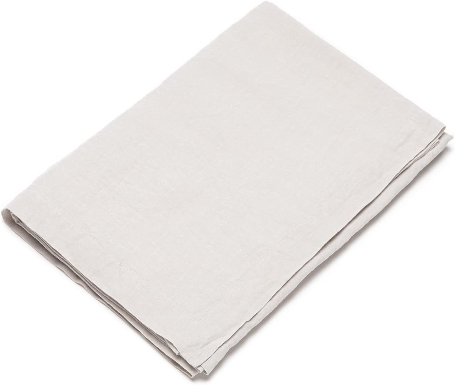 LinenMe Stone Washed Tablecloth Washington Mall Max 72% OFF 67 by Silver 126
