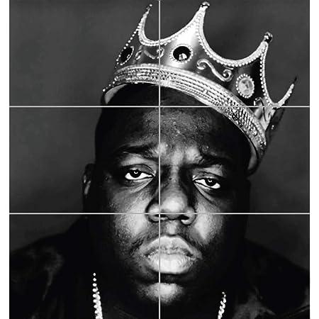 Amazon De Notorious B I G Biggie Giant Hip Hop Rapper Legend Black White King Crown Art Print Poster Plakat Druck En845