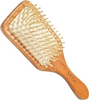 VEGA Wooden Bristle Paddle Brush, wooden colour, E2-PBB