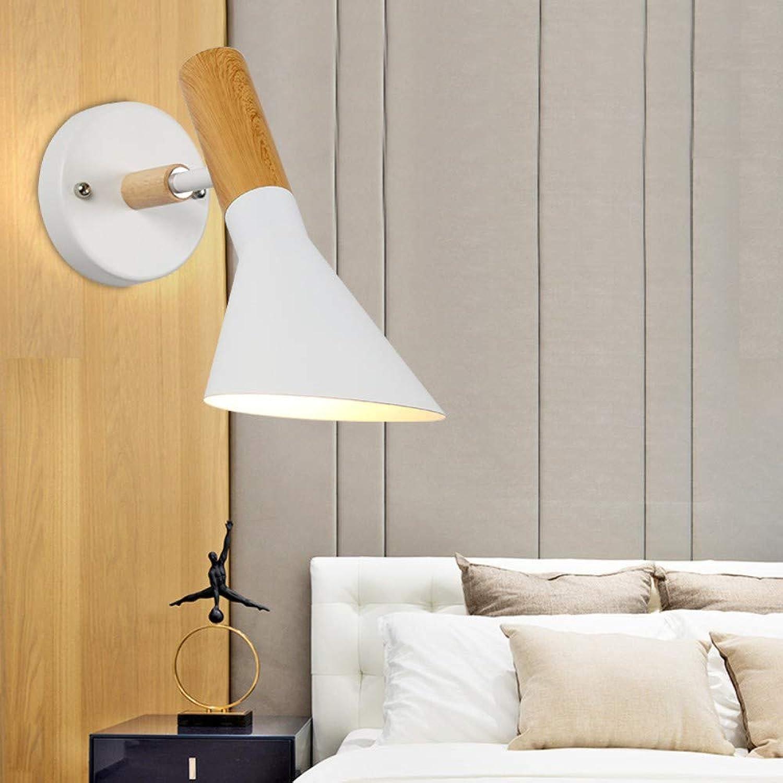 SUWIND Wandleuchte Nordic minimalistischen Stil Wandleuchte Wandleuchte für Schlafzimmer Wohnzimmer Dekoration, wei
