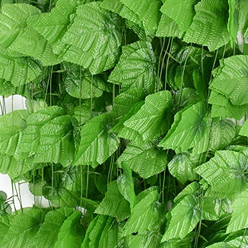 Caulfield hojas artificiales de hiedra artificial ,12pcs 2.1m 80 hojas de hiedra falsas, guirnalda de regalo para fiestas, jardín, boda, decoración del hogar (total 960 hojas)