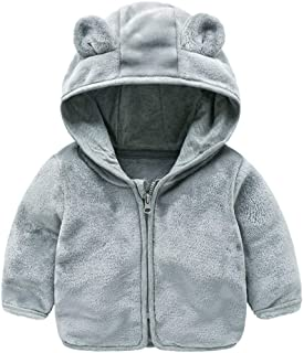 Jchen(TM) Baby Infant Girls Boys Autumn Winter Cute Ear Hooded Coat Jacket Thick Warm Outwear Coat for 0-24 Months