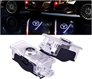 PATRICON Car Door Lights LED Logo for Mercedes Benz Accessory,Ghost Shadow Auto Emblem Courtesy Step Lights for CLS Cla CLK Series, Entry Welcome Lights Courtesy Lights Ground Lamps Kit -2pcs
