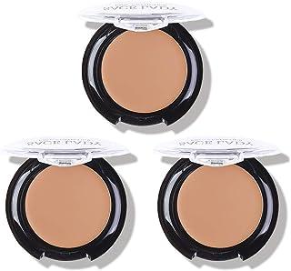 3 Pack Full Coverage Concealer Cream Makeup, Waterproof Matte Smooth Concealer Corrector for Dark Spot Under Eye Circles, 18g/0.6Oz (#52 Warm Natural)