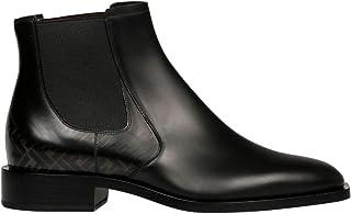 Luxury Fashion | Fendi Men 7U1298A9SFF18SH Black Leather Ankle Boots | Spring-summer 20