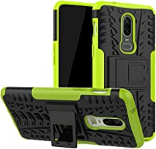 Oneplus 6 Case,Labanema Heavy Duty Shock Proof Rugged Cover Dual Layer Armor Combo Protective Hard Case Cover for Oneplus 6(Not fit Oneplus 6T) - Green