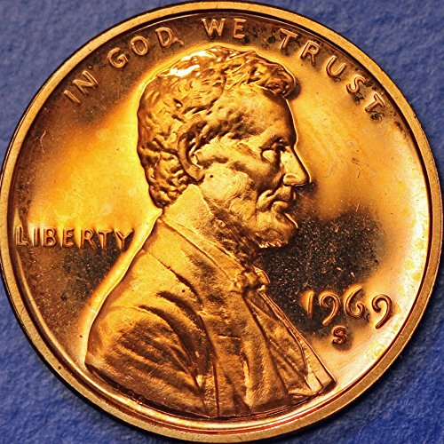 1969 S Lincoln Memorial Penny Cent Gem Proof US Mint