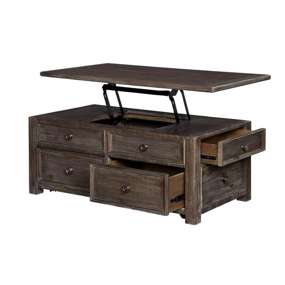 Furniture of America Edwards Rustic Coffee Table in Reclaimed Oak
