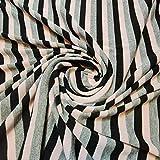 Textile Station Viskose-Jersey-Stretchstoff, weiß, grau,