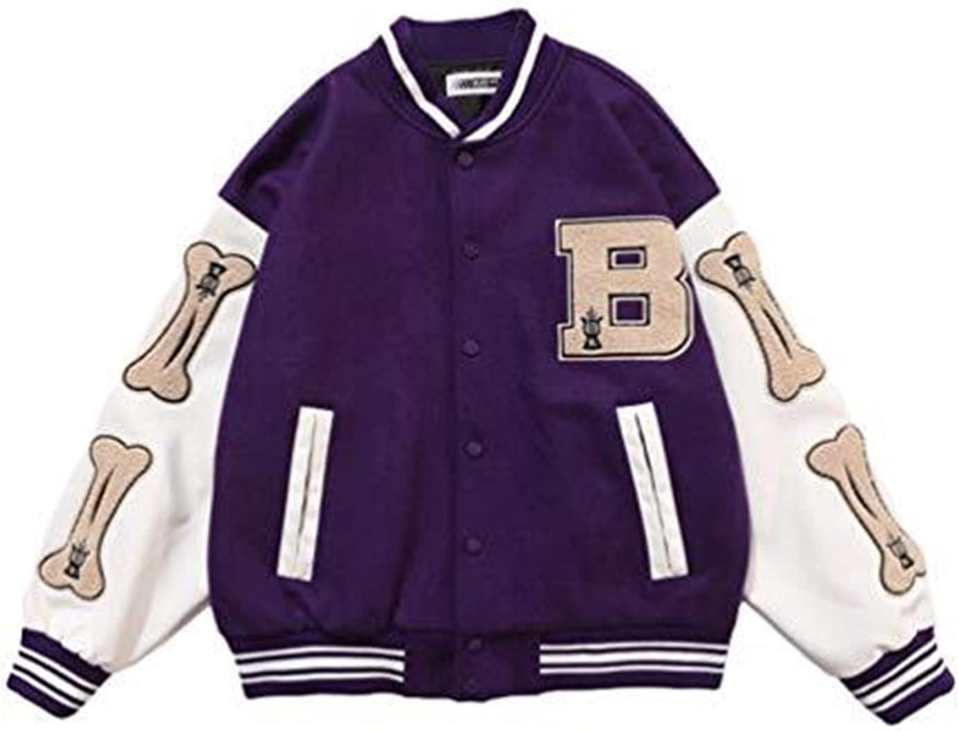GYYlucky Mens Baseball Jacket Limited price Vintage Coat Unisex SEAL limited product Varsity