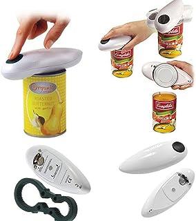 Abrelatas eléctrico ZAK168, abrelatas de latas eléctricas automáticas del restaurante casero, mejor herramienta abierta pa...