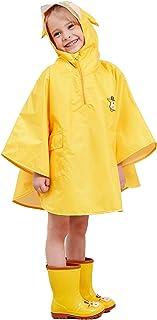 LIVACASA Poncho Antipioggia Bambino Impermeabile Bambina Mantella Pioggia Bimbo con Cappuccio Traspirante Leggero per I Ba...