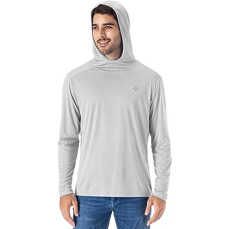 NAVISKIN Men's UPF 50+ UV Sun Protection Hoodie Classic O-Neck Lightweight Outdoor Long Sleeve T-Shirt