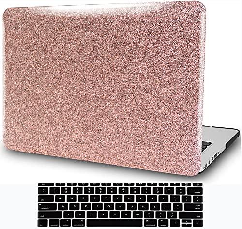 Carcasa rígida para MacBook Air de 13 pulgadas (2010 – 2017 versión A1466 A1369), H2R2 de plástico con cubierta para teclado – oro rosa