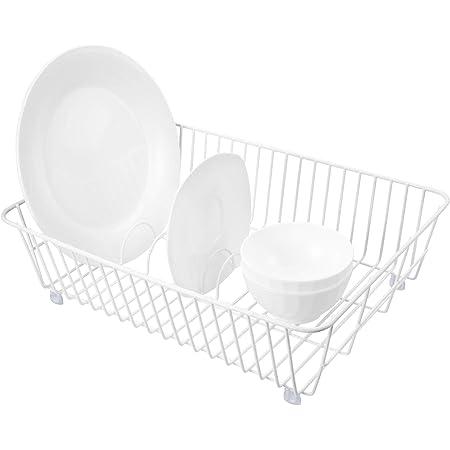QIWODE égouttoir à Vaisselle, Panier à Assiettes à Vaisselle pour Fruits légumes Pots Bols Assiettes et ustensiles de Cuisine (Paquet de 1)
