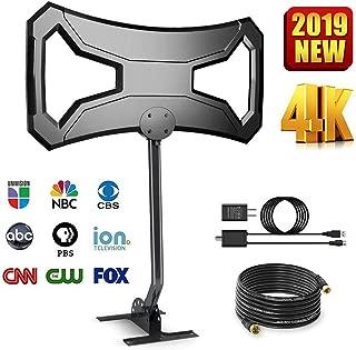 Skytek 150 Miles Outdoor HDTV Antenna - Long Range Digital TV Antenna Omni-Directional Pole Mount 4K FM/VHF/UHF Channels Digital Antenna 33ft RG-6 Copper Cable