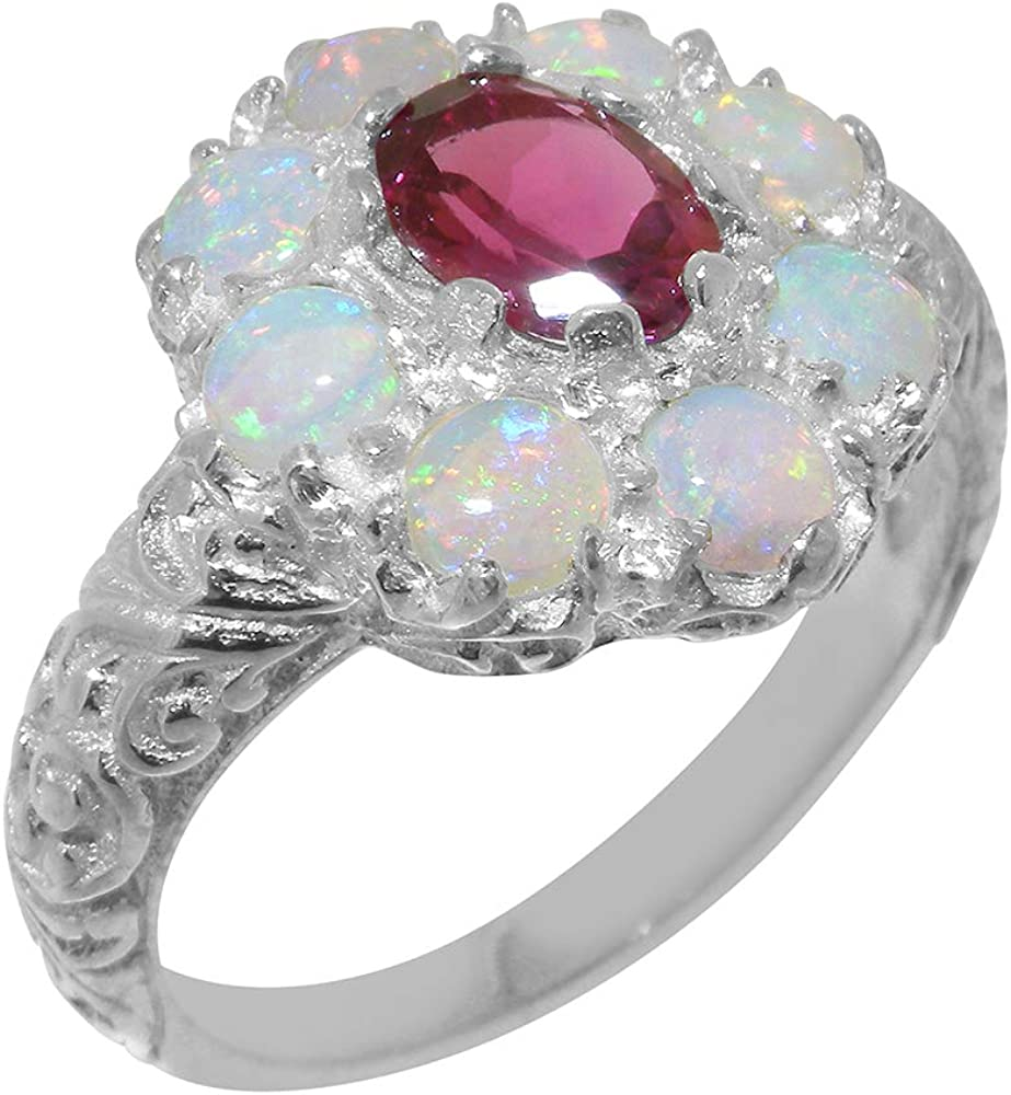 Solid 925 Sterling Silver Natural C Pink Womens Denver Mall Opal Tourmaline Save money