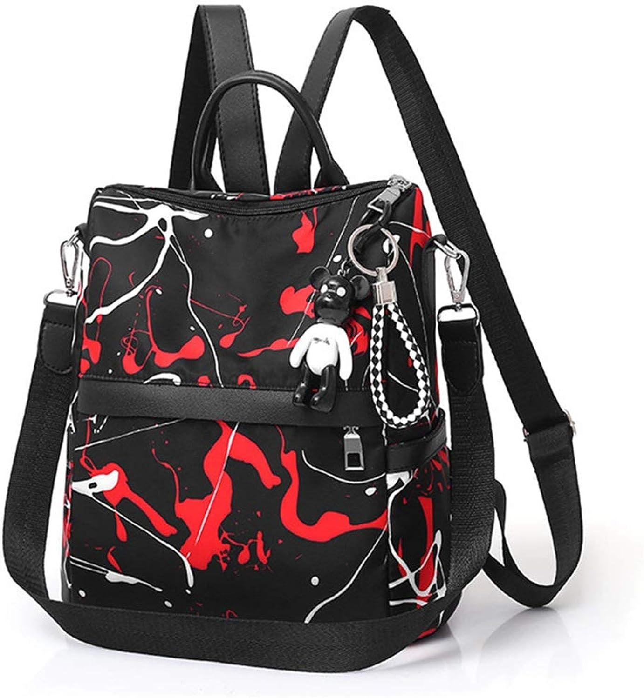 WAVENI Rucksack Rucksack Rucksack Geldbörse PU Leder Daypack Casual Rucksäcke Umhängetaschen Frauen Taschen (Farbe   rot) B07P331W5N  Einfach 215f45