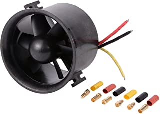 XCSOURCE 70mm Ducted 6-Rotor Fan with 3000KV Brushless Outrunner Motor Balance Tested for EDF Jet Airplane