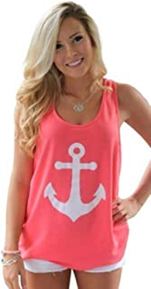 koobea Tank Tops for Women-Summer Racerback Anchor Shirts-Protect Your Investment !!!