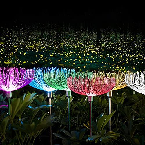 2 lámparas solares impermeables, fáciles de usar, farol LED decorativo al aire libre, para jardín, patio, camino, 2 unidades