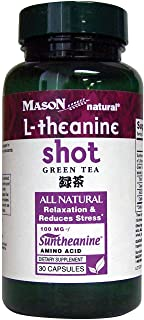 Mason Natural L-theanine Green Tea Capsules, 30-Count
