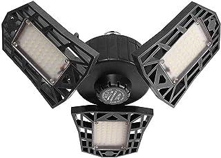 Luces de garaje LED YESSICA, luz de techo LED deformable de 60W 6000LM 6000K Compre bombillas con 3 paneles ajustables, pa...