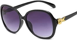 HCIUUI Nuevas tendencias Gafas de sol Moda Gran Gafas de sol Protección UV Gafas de sol Mujeres Moda Gafas Venta al por mayor 15858,2. caja de vino tinto,JH15858