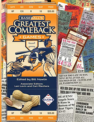 Compare Textbook Prices for Baseball's Greatest Comeback Games  ISBN 9781970159479 by Nowlin, Bill,Larkin, Kevin,Caillault, Jean-Pierre,Pajot, Dennis,Wancho, Joseph,Huber, Mike,Peebles, Laura H.,Nowlin, Bill,Levin, Len,Riechers, Carl