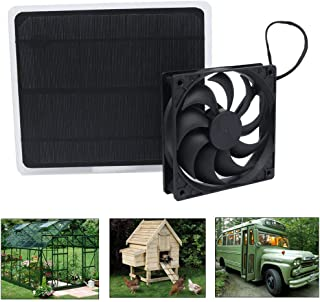 Wulidasheng Solar Panel Powered Fan Mini Ventilator,10W 12V Solar Exhaust Fan for Dog Chicken House Greenhouse RV Roof Quietly Cools and Ventilates