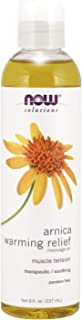 NOW Solutions, Arnica Warming Relief Massage Oil, Therapeutic and Soothing on Sore, Achy Muscles, 8-Ounce