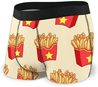 Boxer da Uomo,Box French Fries Intimo Morbido con Marsupio Boxer Give-N-Go da Uomo M
