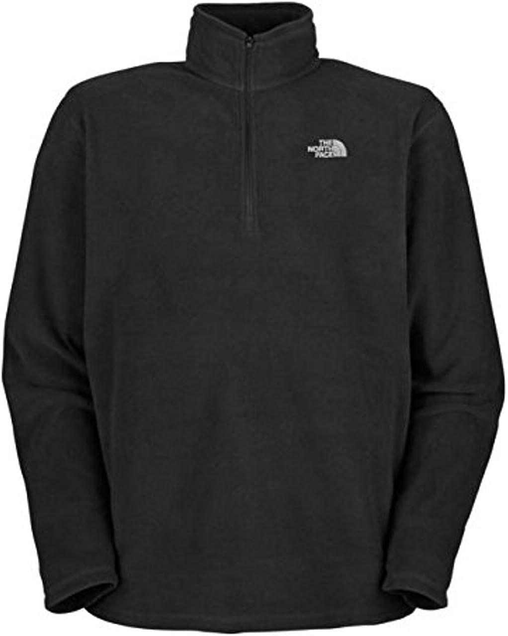 The North Face Men's Glacier 1/4 Zip Fleece Jacket Size L Black