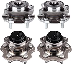 ECCPP Wheel Hub and Bearing Assembly Front and Rear 513257 fit 2006-2017 Toyota RAV4 Lexus HS250H NX200T Scion IM Replacement for 6 lugs Wheel hub with ABS 4 pcs