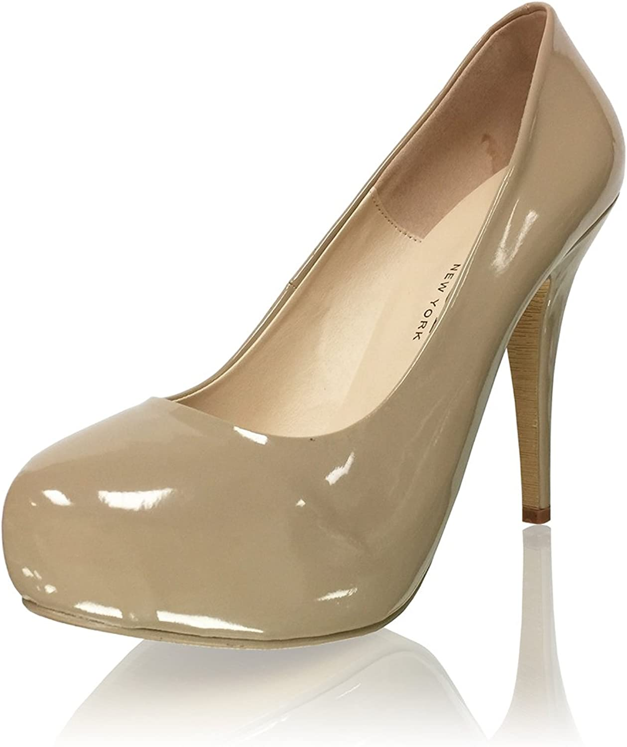 Marc Defang New York Women's 5  Rounded Closed Toe Patent Leather Pumps