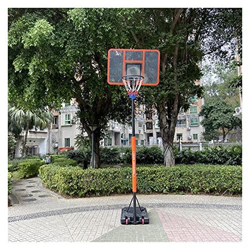 Tableros PortáTiles De Baloncesto Equipo De Tablero Trasero Portátil Profesional Ajustable En Altura Soporte De Aro De Baloncesto para Interiores/Exteriores (Color : Orange)