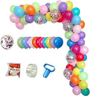 DIY Balloon Arch & Garland Kit, 113Pcs Party Balloons Decoration Set, Colorful Confetti Balloons & Colorful Latex Balloons for Baby Shower, Wedding, Birthday, Graduation, Anniversary Organic Party …
