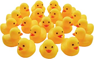DuomiW Yellow Rubber Bath Ducks Baby Bath Toy 20 Pack