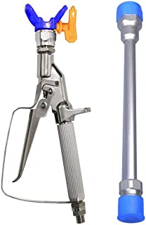 JWGJW 213 Airless Paint Spray Gun, Inline Celling Spray, High Pressure 3600 PSI /517 Tip Swivel Joint with 10 Inch Extension Pole
