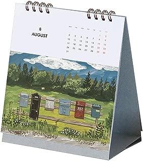 H-BN 新しいカレンダー、 2020のシーン卓上カレンダー、卓上カレンダーの手引き裂かれたページフリップ創造卓上カレンダーの旅行カレンダー年間カレンダーの研究や生活設計 、オフィス用