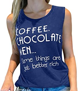 a4ce158bc Letter Print Top, Women Summer Sleeveless Blouse Casual Fitness T-Shirts  Slim Cotton Tank