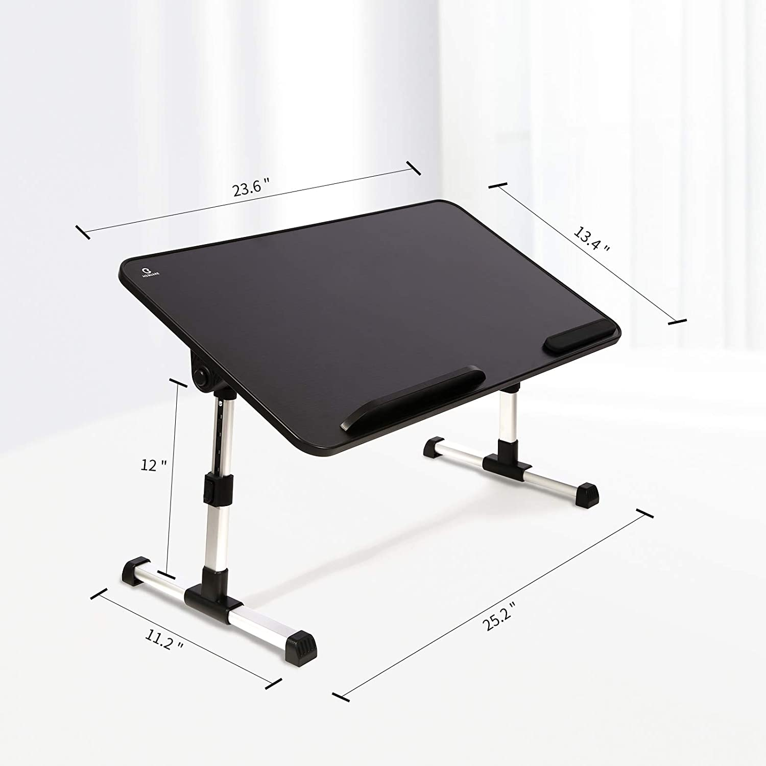 Portable Bed Desk for Laptop NEQUARE Adjustable Laptop Stand for Bed Working on Bed Foldable Bed Tray Table for Eating Fits up to 18 inch Laptop Ergonomic Design Sofa Laptop Desk for Bed Black