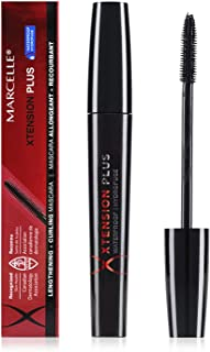 Marcelle Xtension Plus Waterproof Mascara, Black, Hypoallergenic and Fragrance-Free, 0.3 fl oz