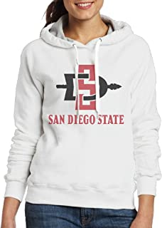 BFWL Women's Hooded Sweatershirts Hoodies San Diego State University White