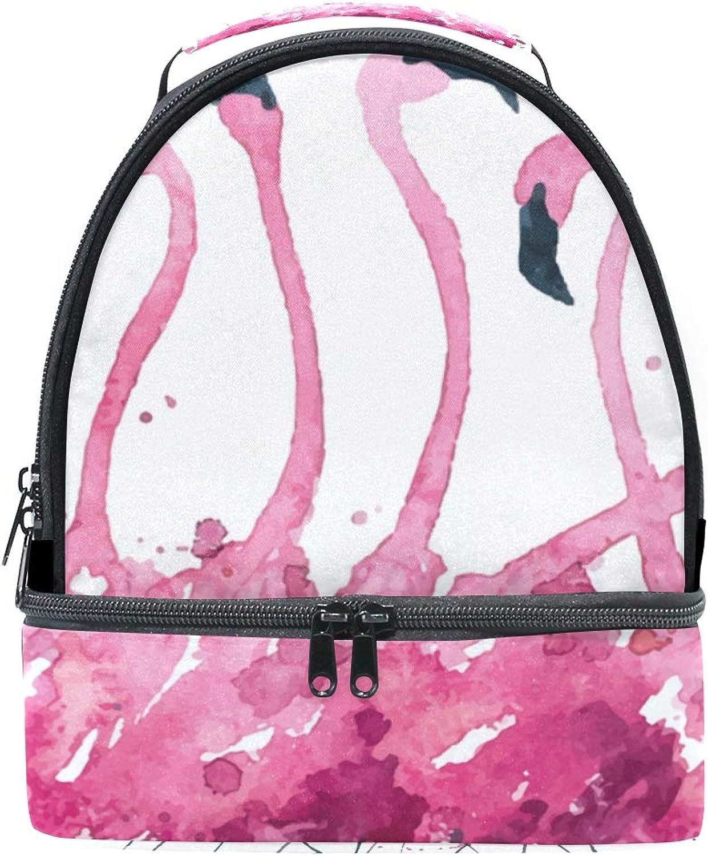 Schultertasche für Picknick, doppelt, mit Flamingo-Kühler, Flamingo-Kühler, Flamingo-Kühler, verstellbarer Riemen B07HDN998V  Klassisch fd8c52
