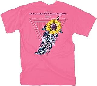 Sunflower Feather - Crunchberry | Women's Topside Cotton T-Shirt