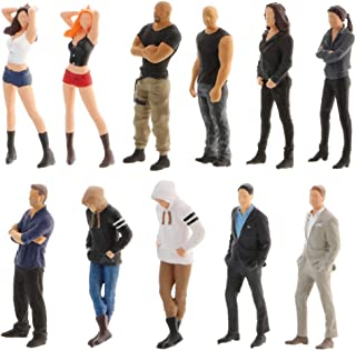 Harilla Liten figur i skala 11x 1/64 PVC People Street Table scenario Toy Decor