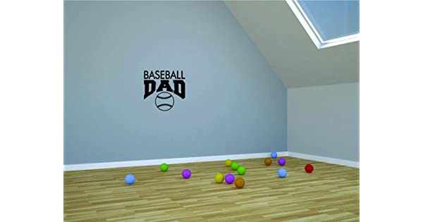 Baseball Dad Sports Father Son Daughter Boy Girl Teen Color Peel /& Stick Wall Sticker Design with Vinyl Moti 2686 1 Decal Black Size 12 Inches x 12 Inches