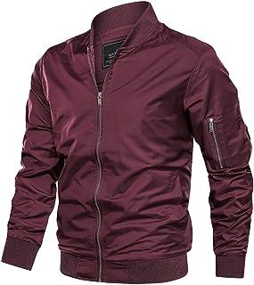 TACVASEN Mens Casual Jacket Lightweight Outwear Jackets Autumn Bomber Jackets Windbreaker Jacket Coat with Pockets